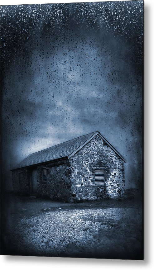 Abandoned Metal Print featuring the photograph Rain by Svetlana Sewell