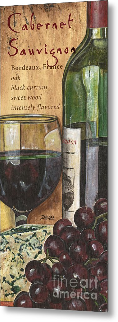 Cabernet Metal Print featuring the painting Cabernet Sauvignon by Debbie DeWitt