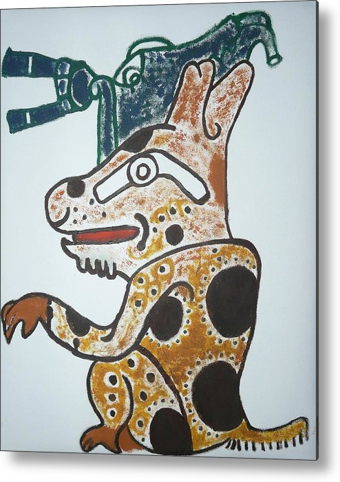 Gran Jaguar Metal Print featuring the painting Gran Jaguar Iv by Juan Francisco Zeledon