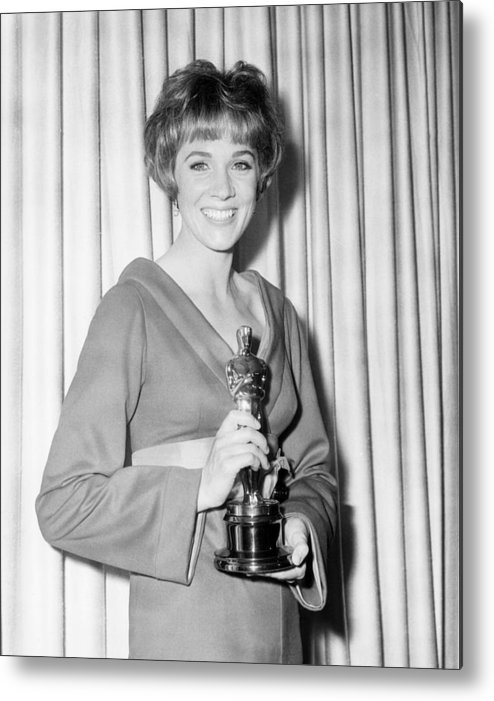 1960s Candids Metal Print featuring the photograph Julie Andrews, With Her Best Actress by Everett