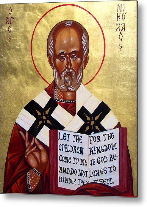 St. Nicholas Metal Print featuring the painting Saint Nicholas The Wonder Worker by Joseph Malham