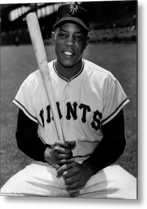 Willie Metal Print featuring the photograph Willie Mays by Gianfranco Weiss