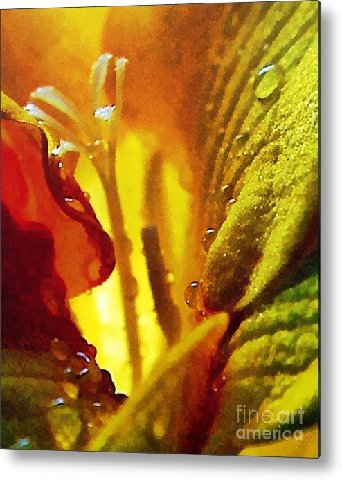 Odon Metal Print featuring the painting The Pistils by Odon Czintos