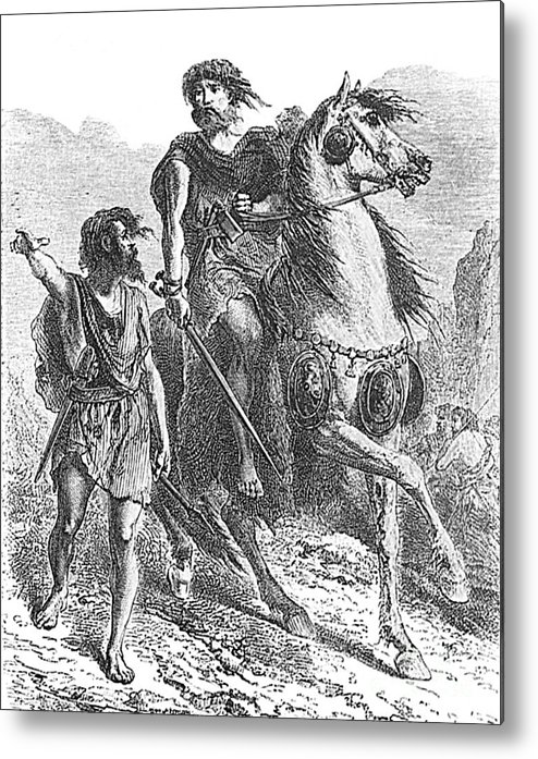 Prehistory Metal Print featuring the photograph Bronze Age Warrior by Photo Researchers