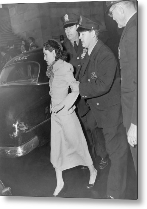 History Metal Print featuring the photograph Lolita Lebron B. 1919, Under Arrest by Everett
