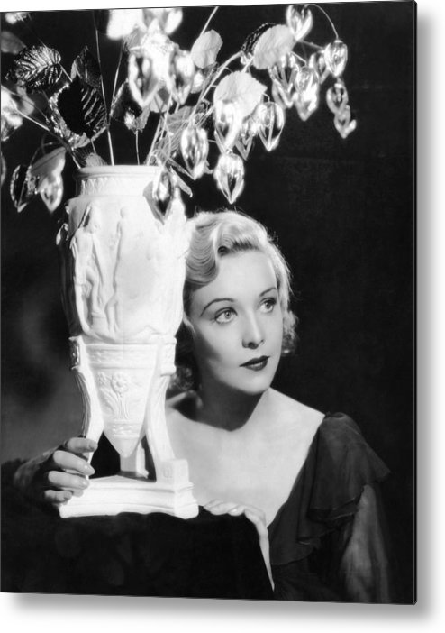 1930s Movies Metal Print featuring the photograph Secret Agent, Madeleine Carroll, 1936 by Everett