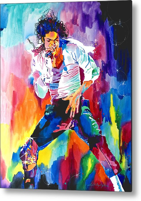 Michael Jackson Metal Print featuring the painting Michael Jackson Wind by David Lloyd Glover