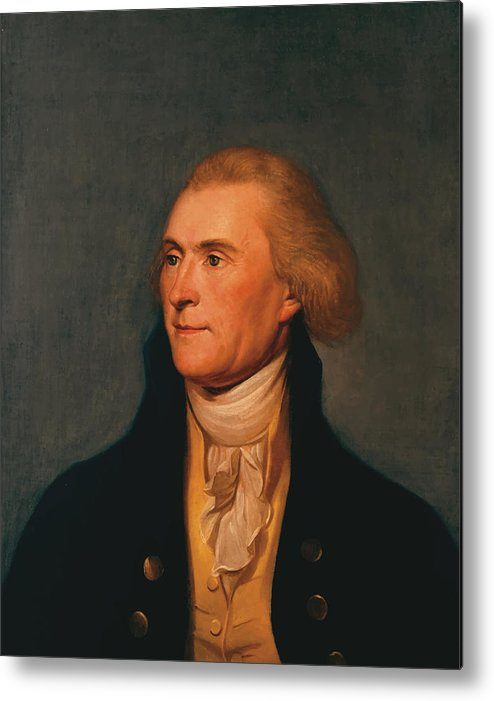 Thomas Jefferson Metal Print featuring the painting Thomas Jefferson by War Is Hell Store