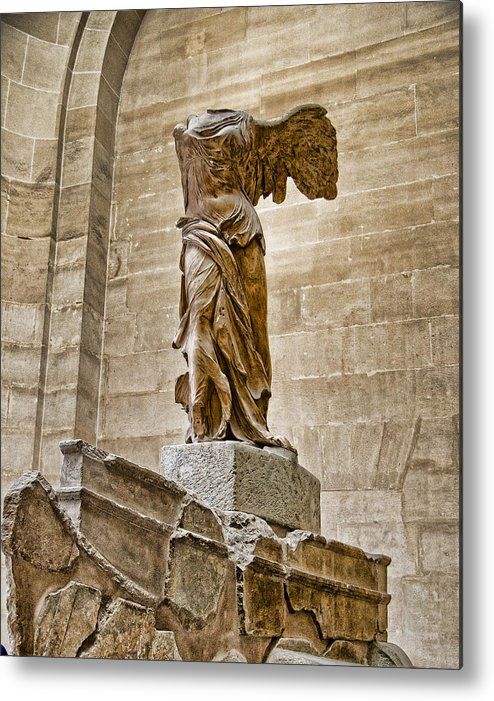 France Metal Print featuring the photograph Winged Victory by Jon Berghoff