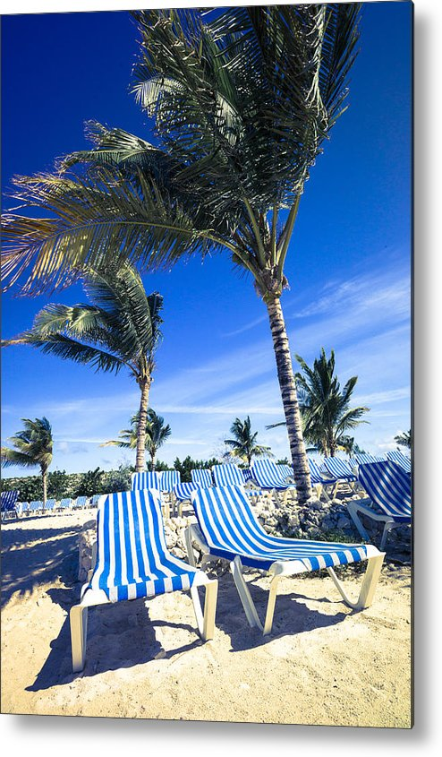 Ocean Metal Print featuring the digital art Windy Day At The Beach by Susan Stone