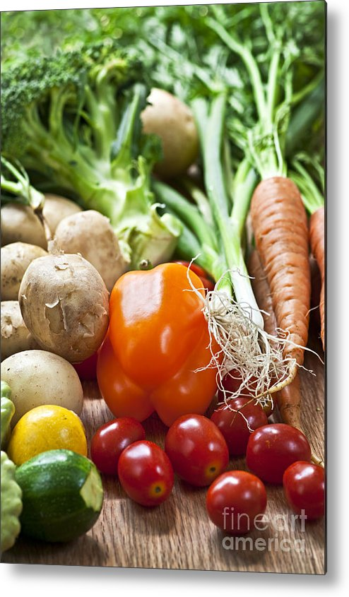 Vegetables Metal Print featuring the photograph Vegetables by Elena Elisseeva