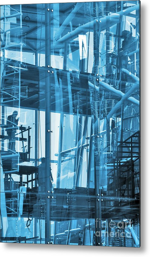 Abstract Metal Print featuring the photograph Abstract Architecture by Carlos Caetano