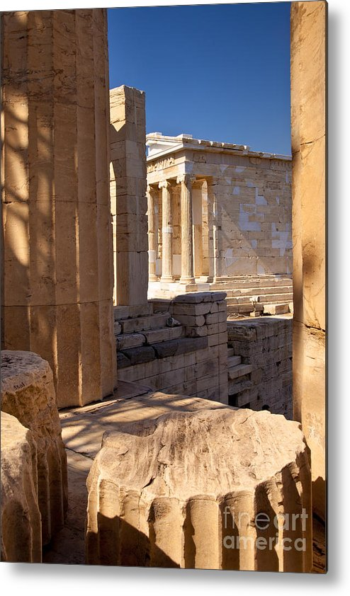 Acropolis Metal Print featuring the photograph Acropolis Temple by Brian Jannsen