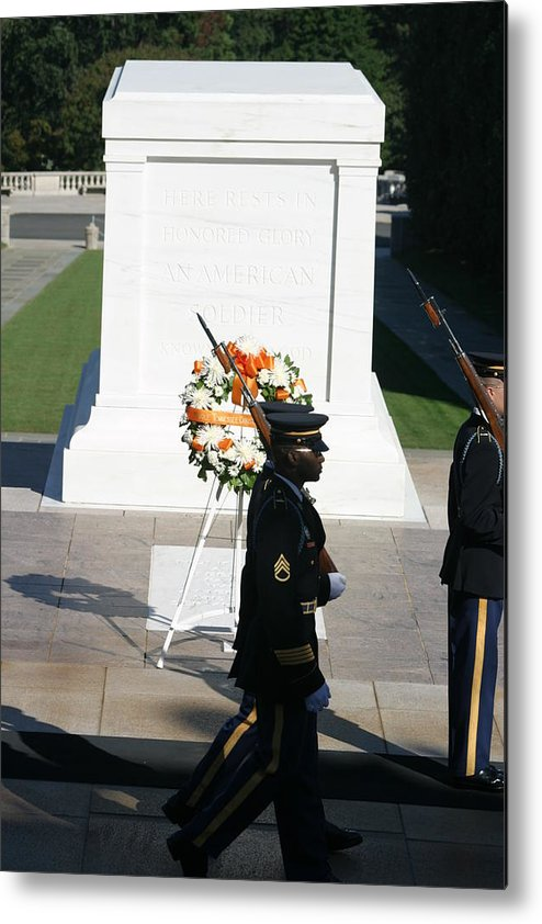 Arlington Metal Print featuring the photograph Arlington National Cemetery - Tomb Of The Unknown Soldier - 121213 by DC Photographer