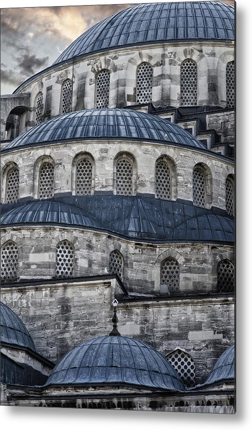 Blue Mosque Metal Print featuring the photograph Blue Dawn Blue Mosque by Joan Carroll