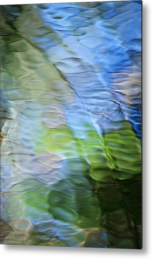 Coastline Mosaic Abstract Art Metal Print by Christina Rollo