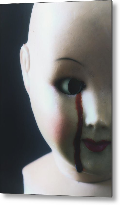 Doll Metal Print featuring the photograph Crying Blood by Joana Kruse