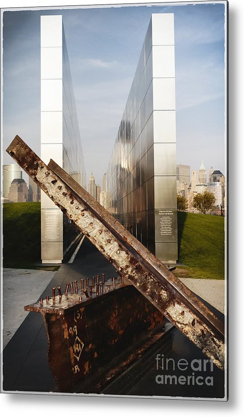 Empty Sky Metal Print featuring the photograph Empty Sky New Jersey September 11th Memorial by George Oze