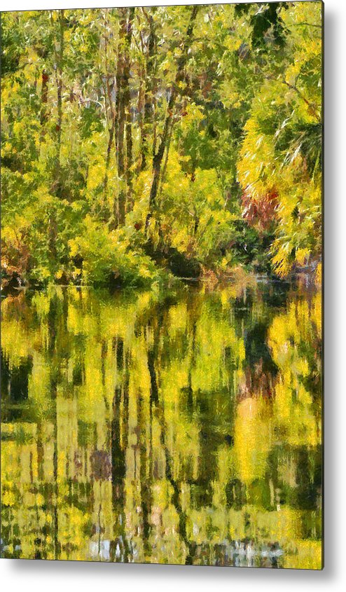 Silver Metal Print featuring the painting Florida Jungle by Christine Till