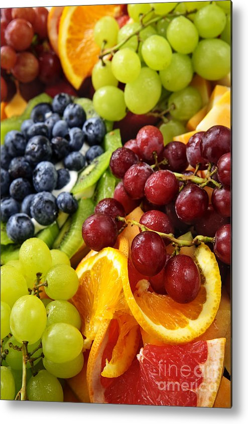 Fruit Metal Print featuring the photograph Fresh Fruits by Elena Elisseeva