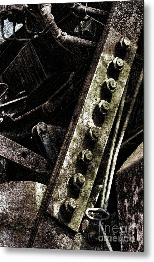 Industrial Metal Print featuring the photograph Grunge Industrial Machinery by Olivier Le Queinec