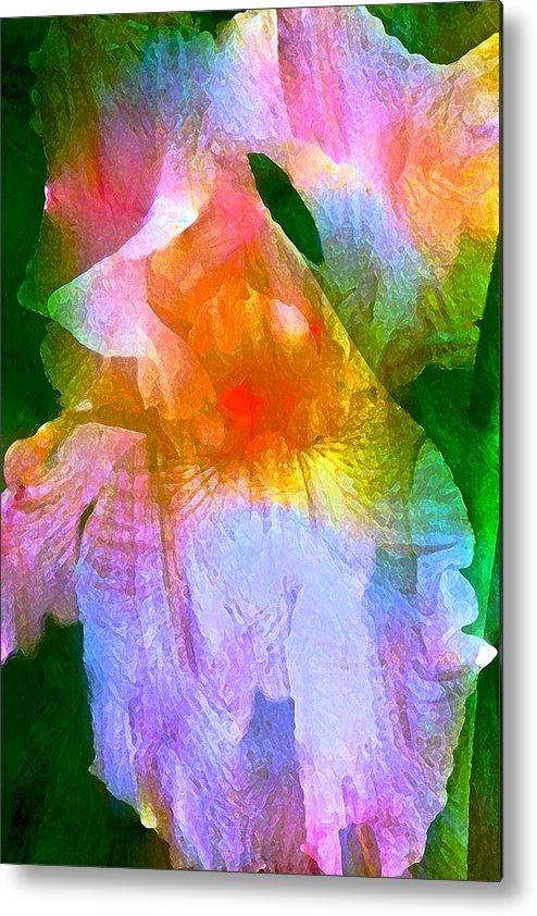 Floral Metal Print featuring the photograph Iris 53 by Pamela Cooper