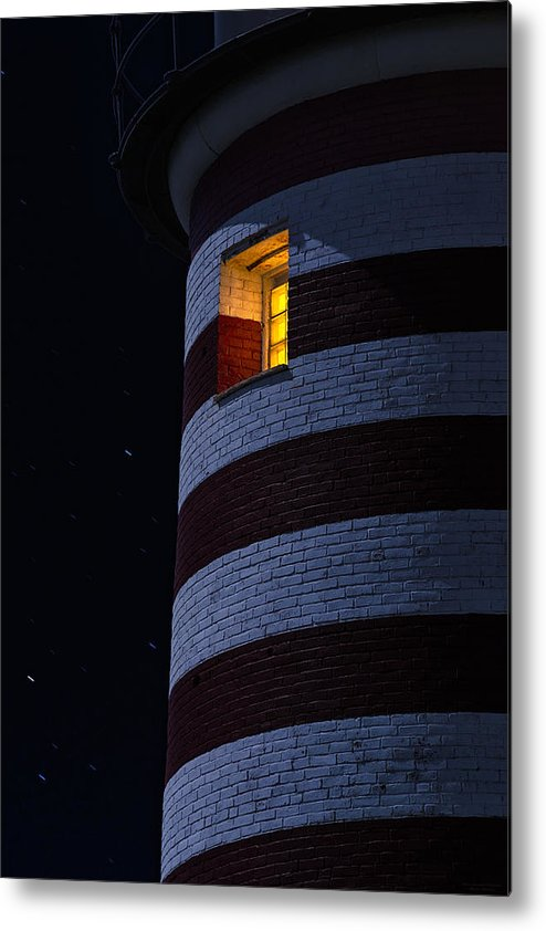 Lighthouse Metal Print featuring the photograph Light From Within by Marty Saccone