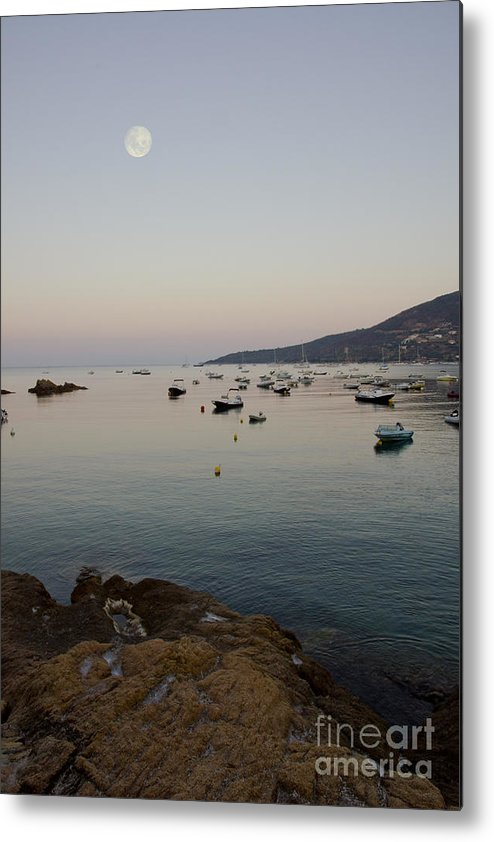 Moon Metal Print featuring the photograph Morning Moon by Sophie De Roumanie