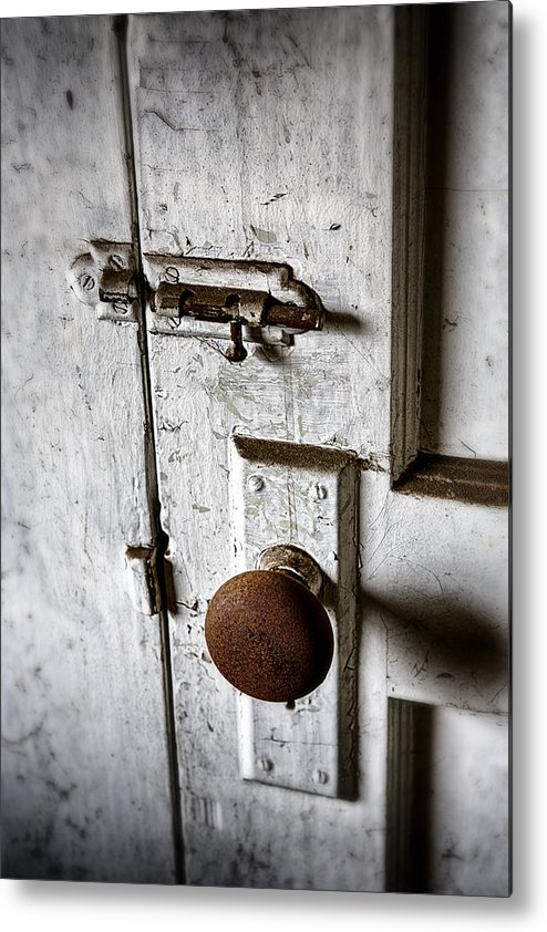 Doorknob Metal Print featuring the photograph Mystery Door by Caitlyn Grasso