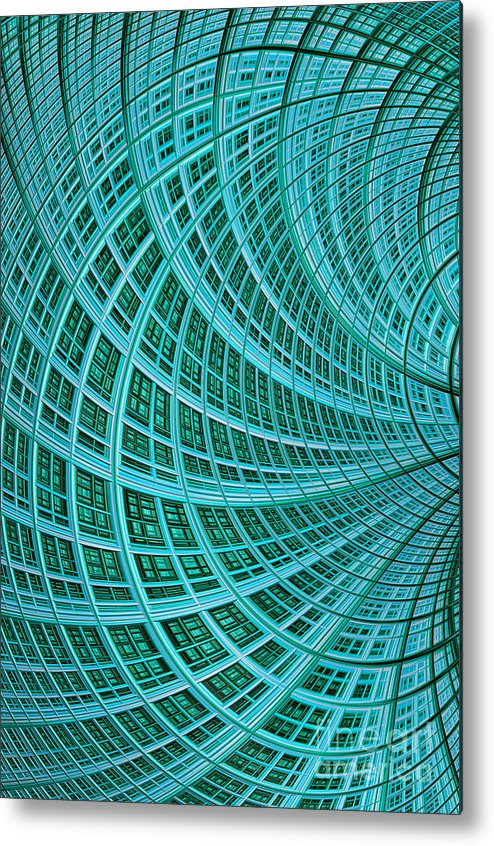 Mesh Metal Print featuring the digital art Network by John Edwards
