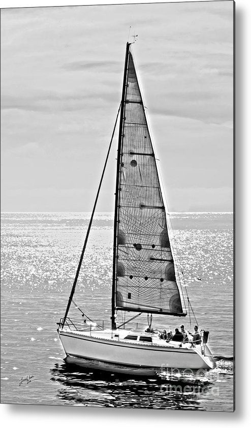 Sailboat Metal Print featuring the photograph New Dawn - Sailing Into Calm Waters by Artist and Photographer Laura Wrede