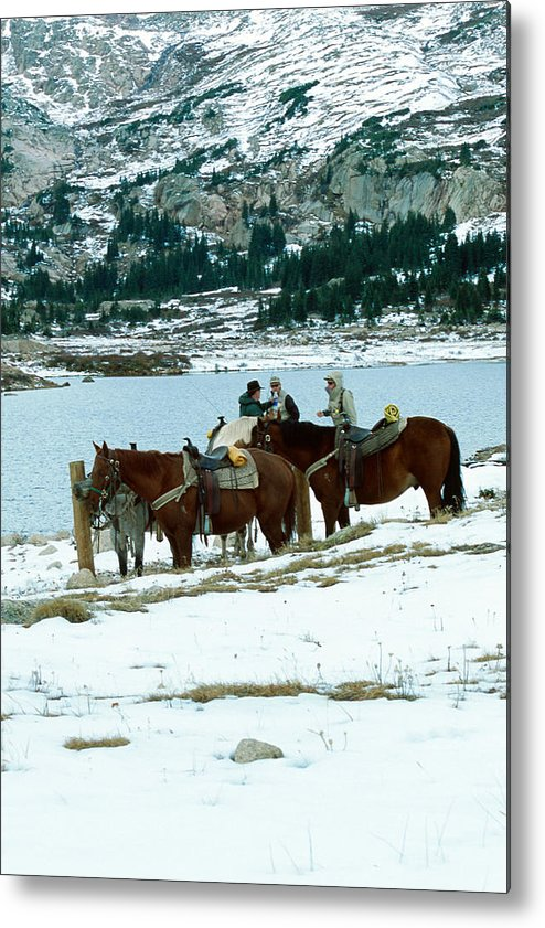 Landscape Metal Print featuring the photograph Packing Up by Eric Glaser