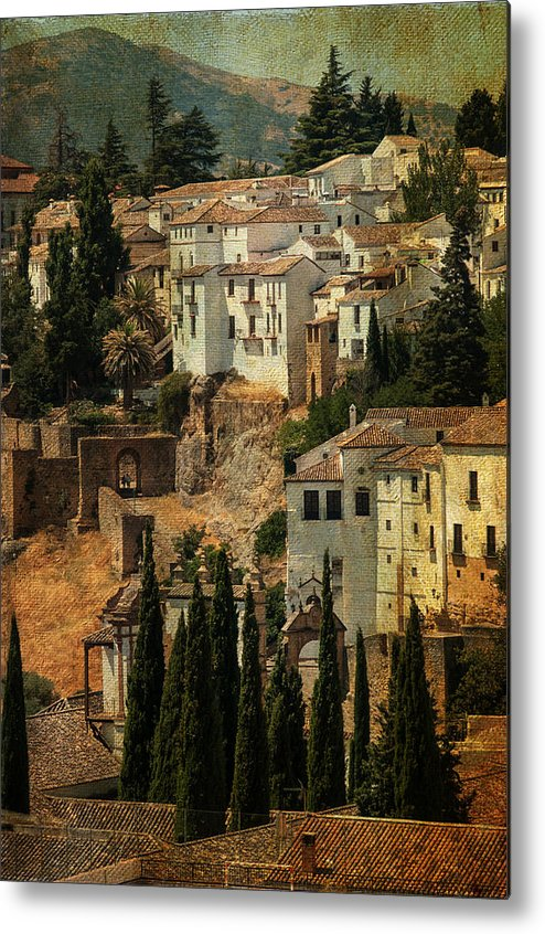 Spain Metal Print featuring the photograph Painted Ronda. Spain by Jenny Rainbow