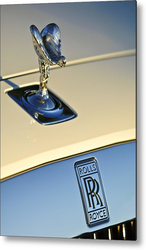 Rolls-royce Metal Print featuring the photograph Rolls-royce Hood Ornament 3 by Jill Reger