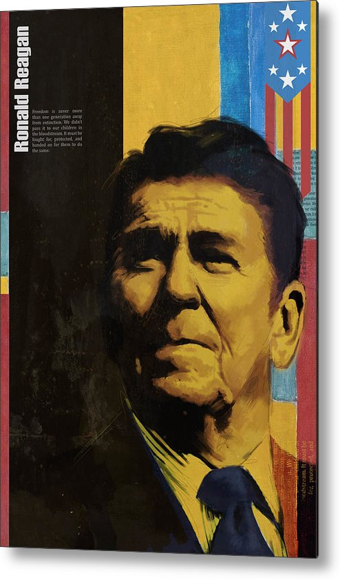 Ronald Reagan Metal Print featuring the painting Ronald Reagan by Corporate Art Task Force