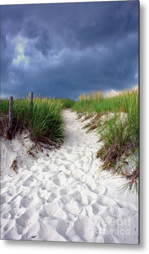 Beach Metal Print featuring the photograph Sand Dune Under Storm by Olivier Le Queinec