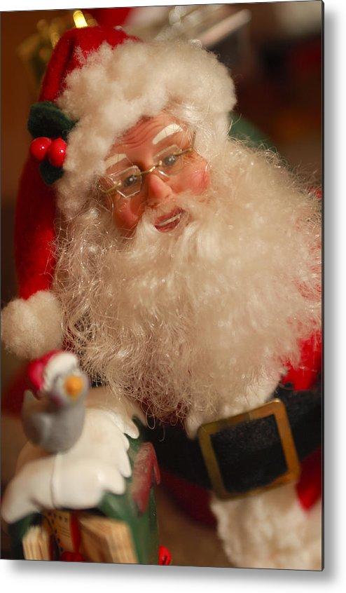 Santa Claus Metal Print featuring the photograph Santa Claus - Antique Ornament - 11 by Jill Reger