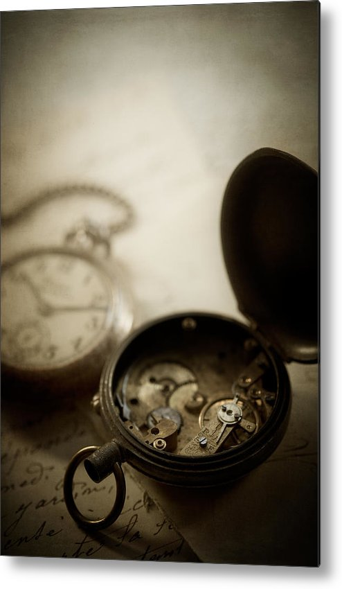 Watch Metal Print featuring the photograph Somewhere In Time by Amy Weiss