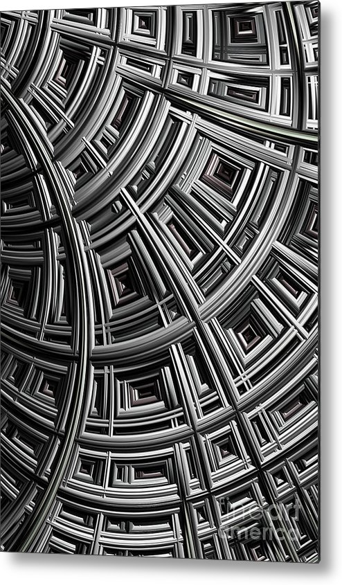 Mesh Metal Print featuring the digital art Structure by John Edwards