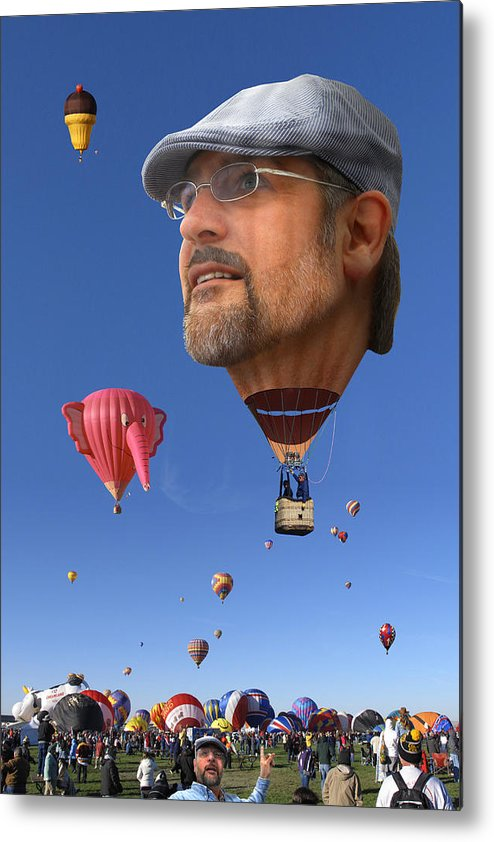 Humorous Art Metal Print featuring the photograph The Hot Air Surprise by Mike McGlothlen