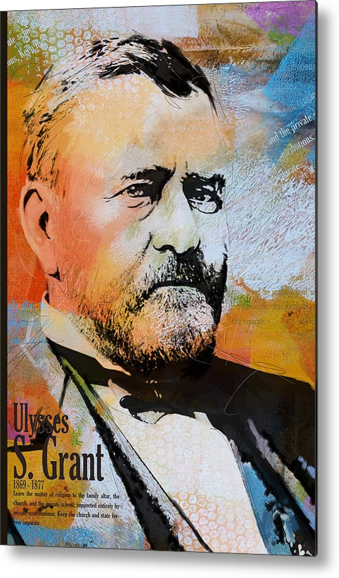 Ulysses S. Grant Metal Print featuring the painting Ulysses S. Grant by Corporate Art Task Force