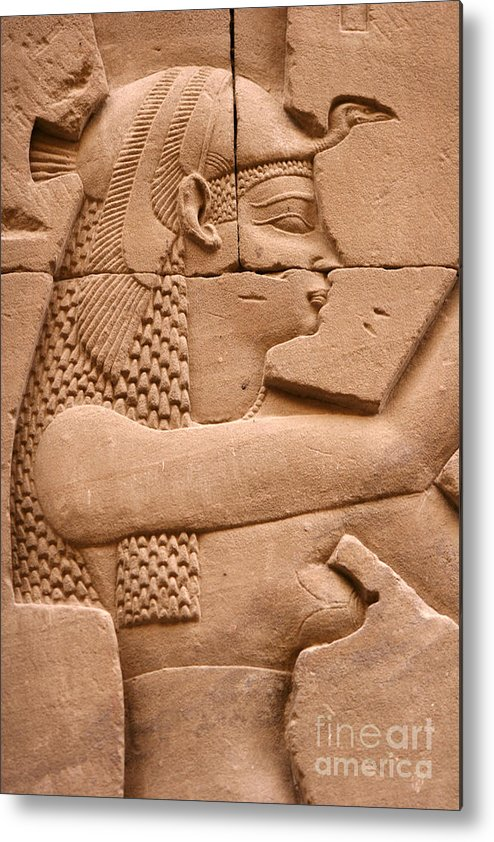 Relief Metal Print featuring the photograph Wadjet by Stephen & Donna O'Meara