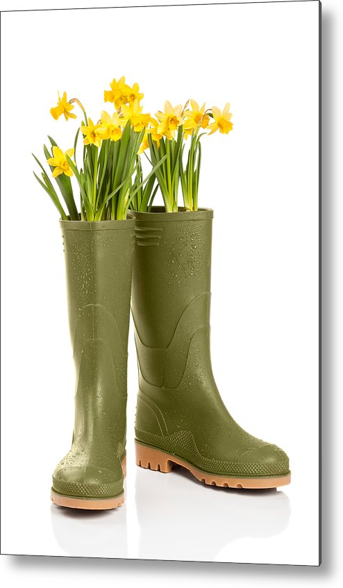 Spring Metal Print featuring the photograph Wellington Boots by Amanda And Christopher Elwell