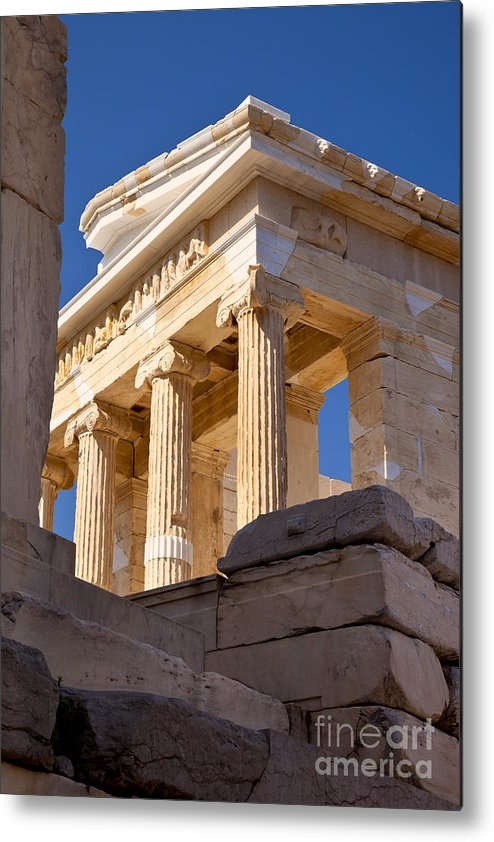 Acropolis Metal Print featuring the photograph Acropolis Temple by Brian Jannsen