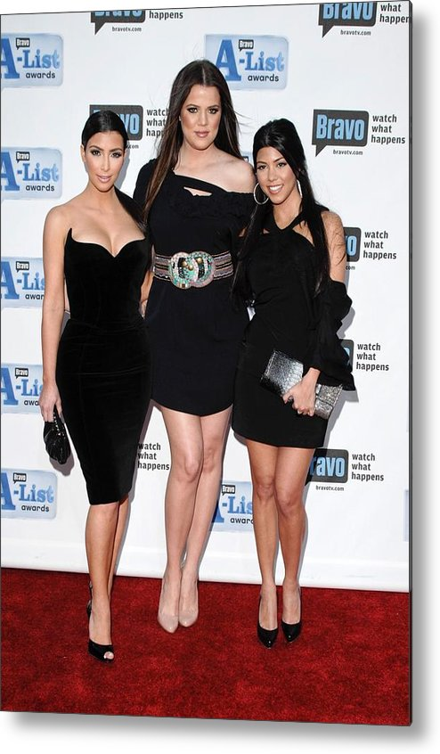 Kim Kardashian Metal Print featuring the photograph Kim Kardashian, Khloe Kardashian by Everett