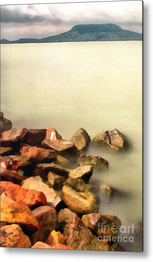 Odon Metal Print featuring the painting Calm by Odon Czintos