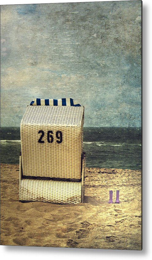 Beach Chair Metal Print featuring the photograph Beach Chair by Joana Kruse