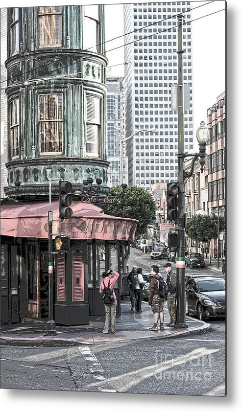 San Francisco Metal Print featuring the photograph Cafe Zoetrope by Artist and Photographer Laura Wrede