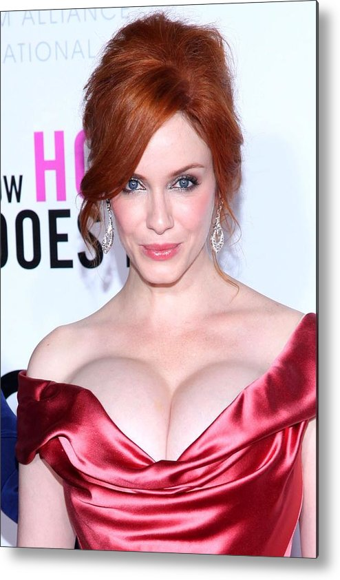 Christina Hendricks Metal Print featuring the photograph Christina Hendricks At Arrivals For I by Everett