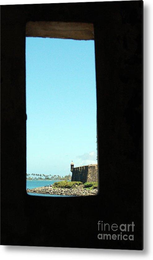 El Morro Metal Print featuring the photograph Guard Tower View Castillo San Felipe Del Morro San Juan Puerto Rico by Shawn O'Brien